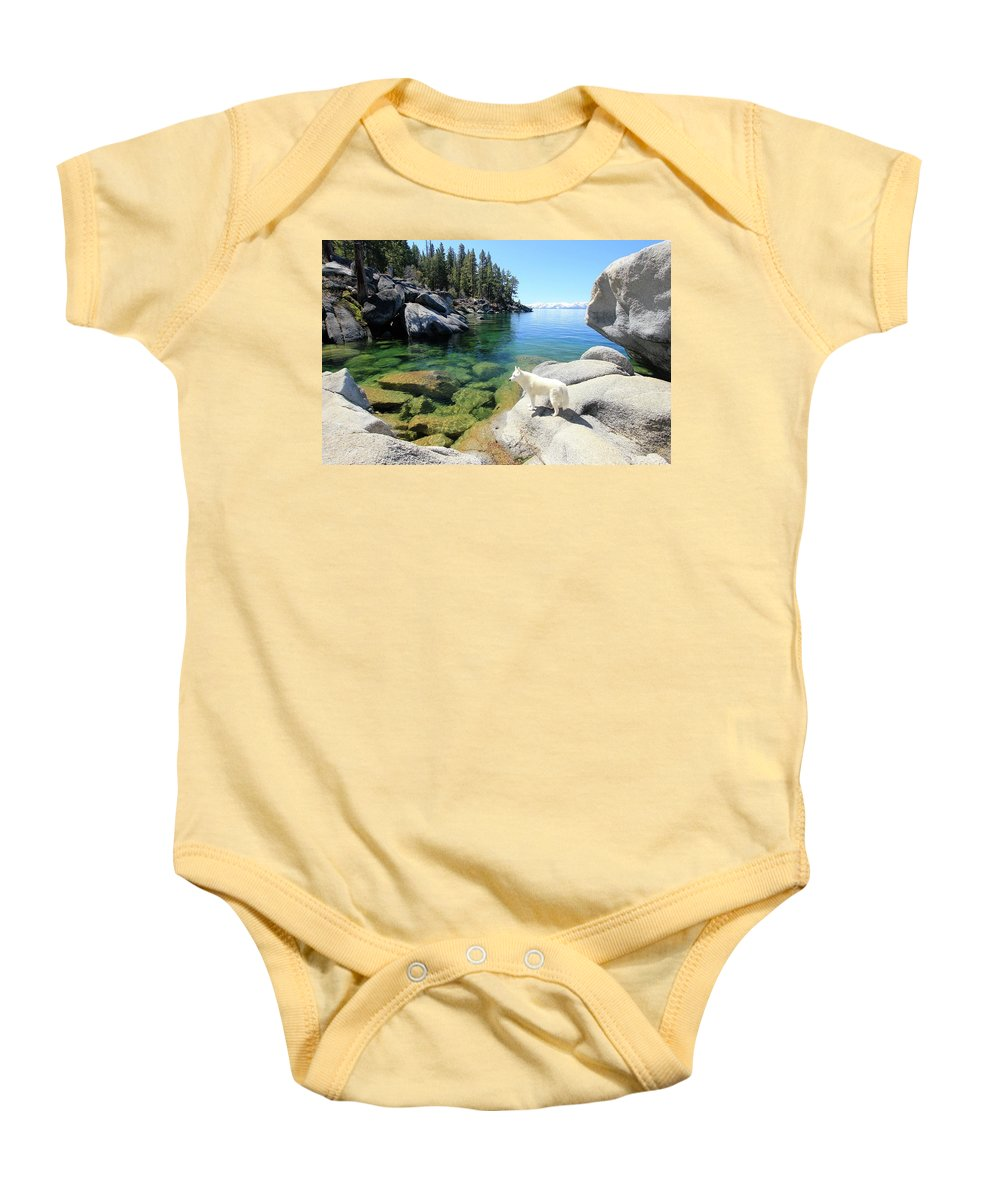Lake Tahoe Baby Onesie featuring the photograph One With Nature by Sean Sarsfield
