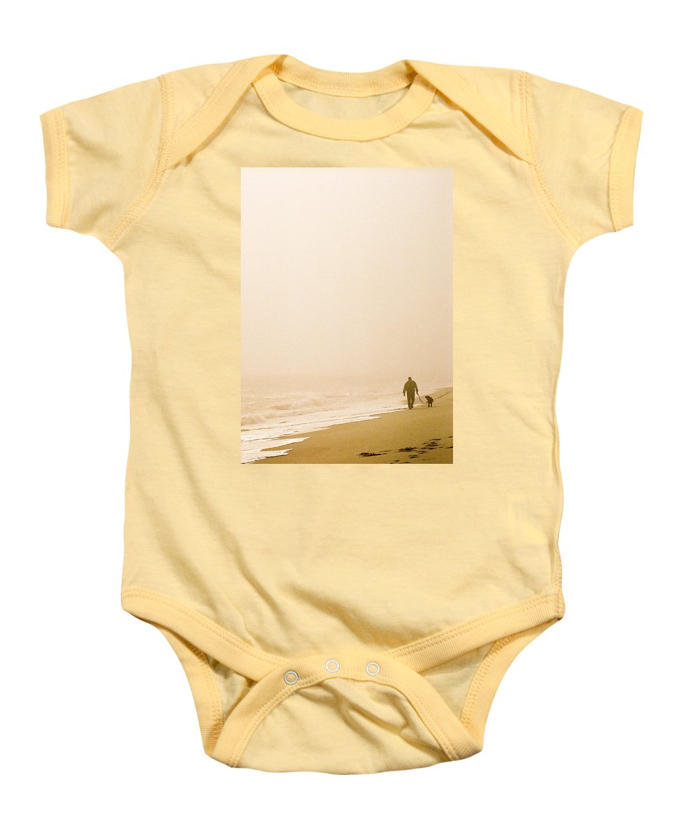 Landscape Baby Onesie featuring the photograph Out Of The Mist by Steve Karol