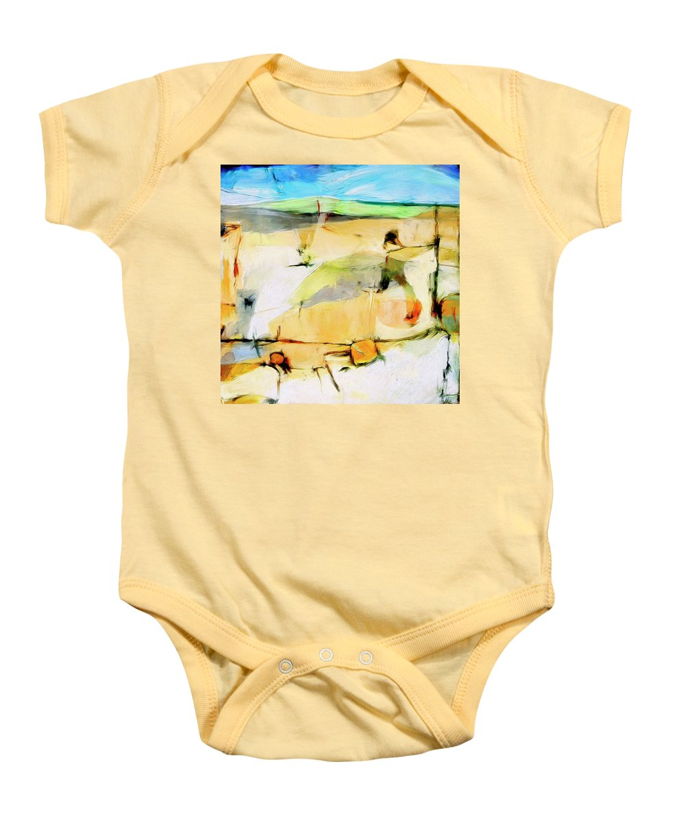 Abstract Baby Onesie featuring the painting Overlook by Dominic Piperata