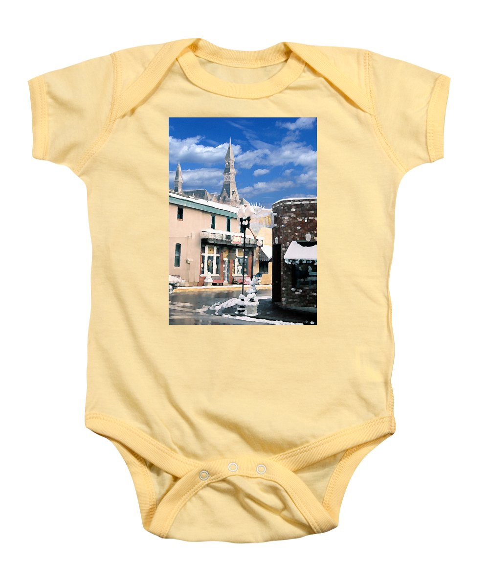 Landscape Baby Onesie featuring the photograph Parkville In Winter by Steve Karol