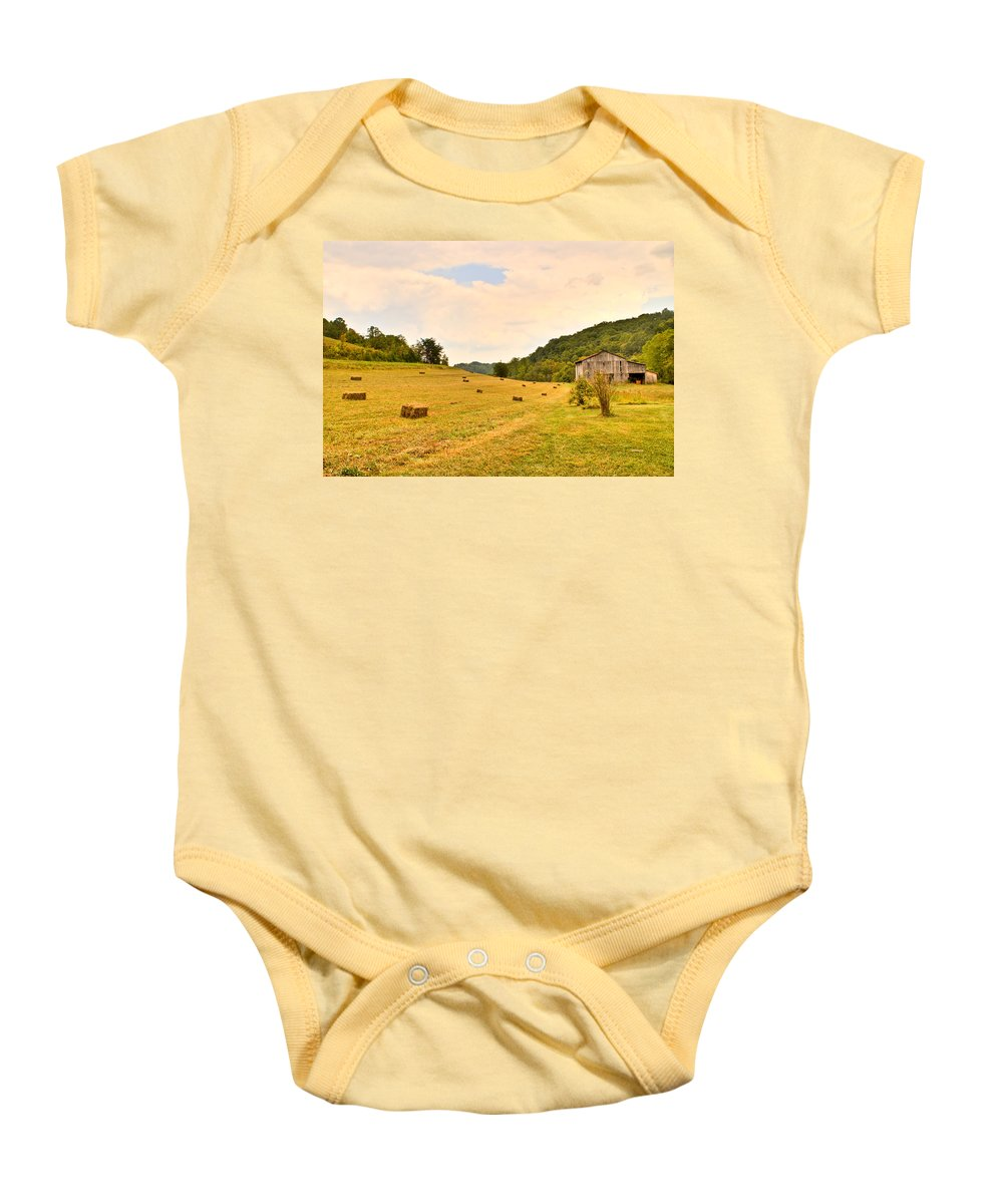 Pastorial Baby Onesie featuring the photograph Pastorial Framland In Kentucky by Douglas Barnett