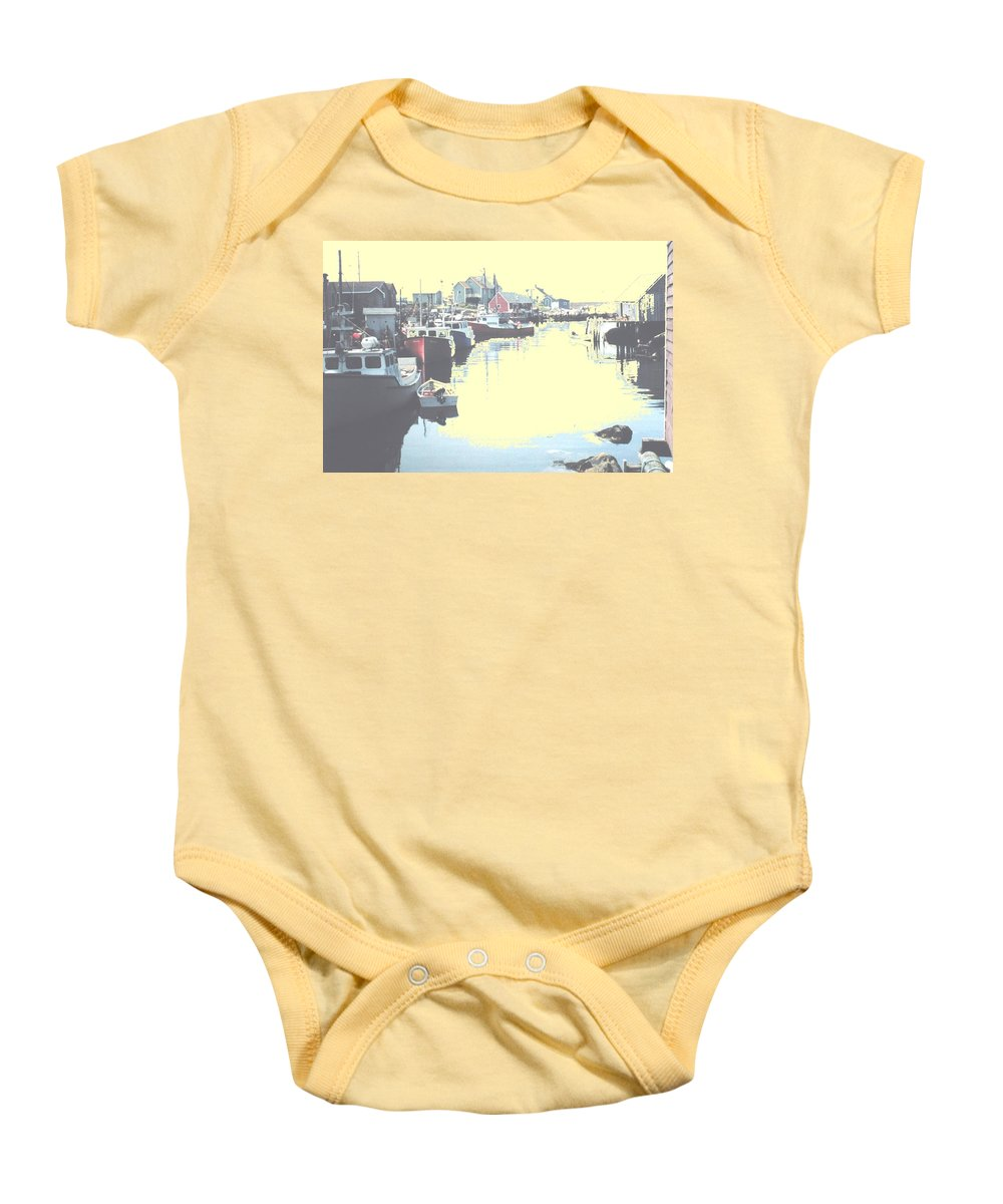 Nova Scotia Baby Onesie featuring the photograph Peggy by Ian MacDonald