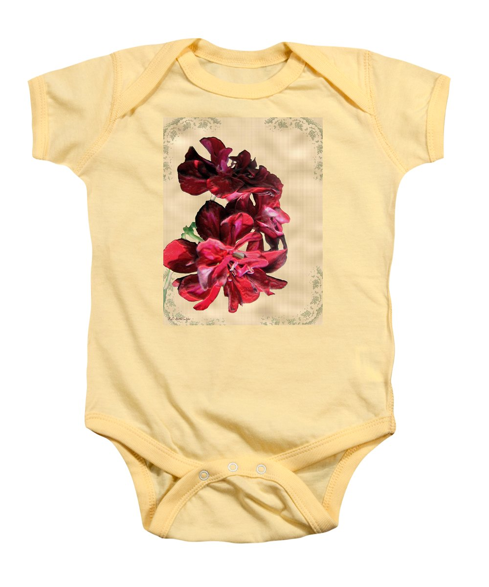 Flowers Baby Onesie featuring the painting Penny Postcard by RC DeWinter