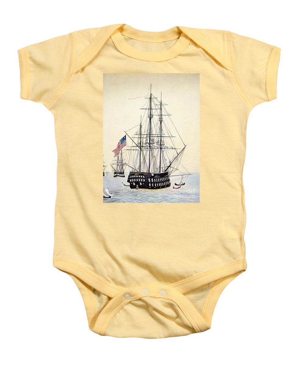 1854 Baby Onesie featuring the painting Perrys Expedition To Japan by Granger