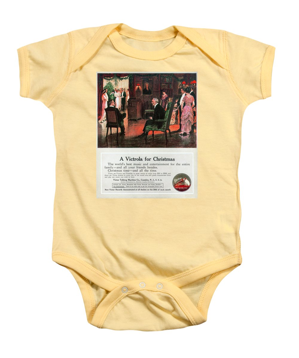 1914 Baby Onesie featuring the photograph Phonograph, 1914 by Granger