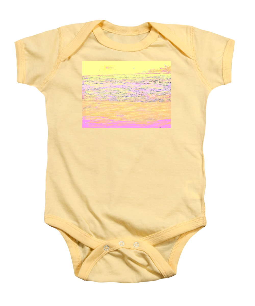 Seascape Baby Onesie featuring the photograph Pineapple Sunset by Ian MacDonald