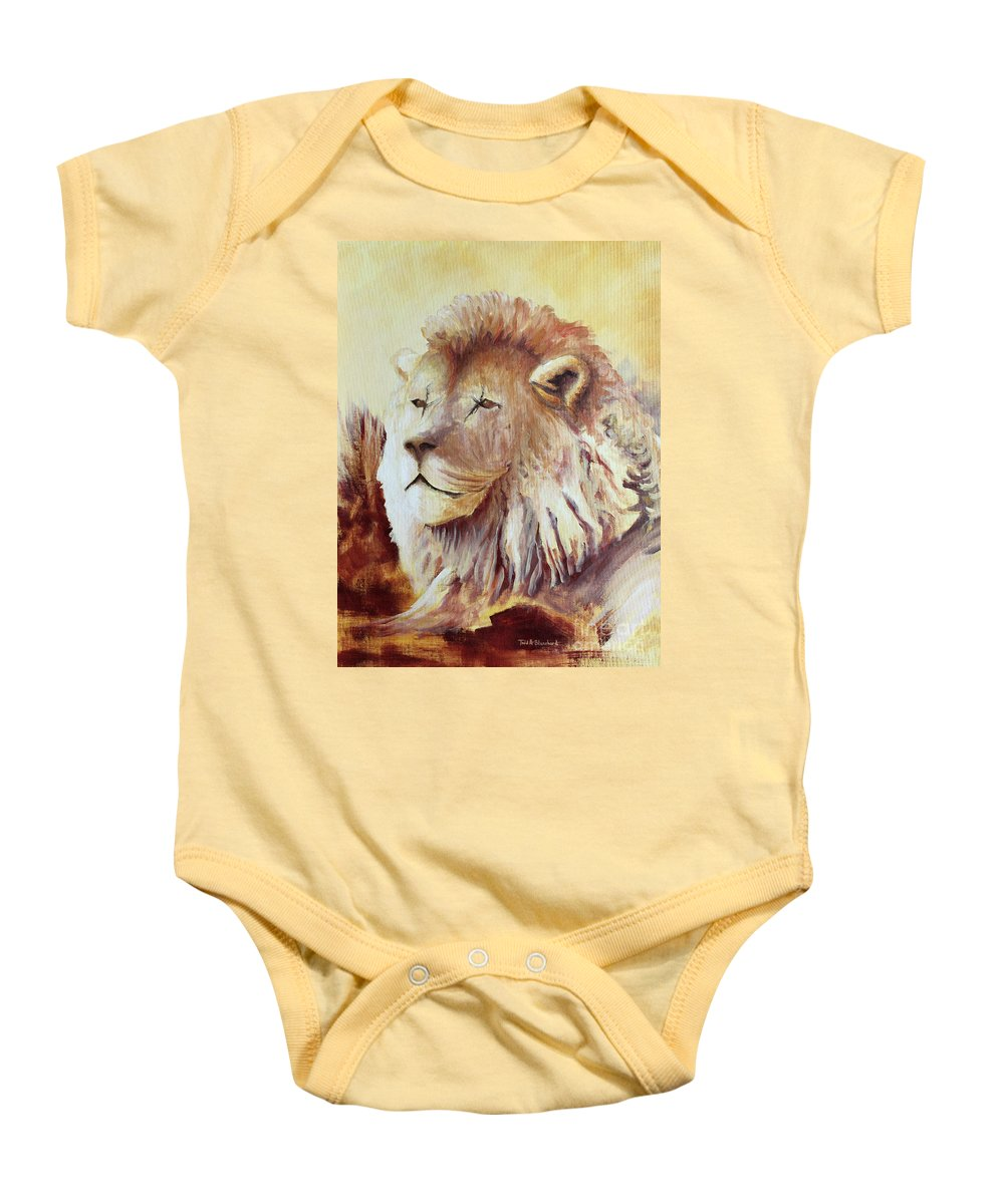 Animal Baby Onesie featuring the painting Proud by Todd A Blanchard
