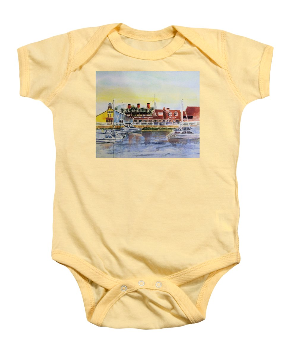 Watercolor Baby Onesie featuring the painting Queen Of The Shore by Debbie Lewis