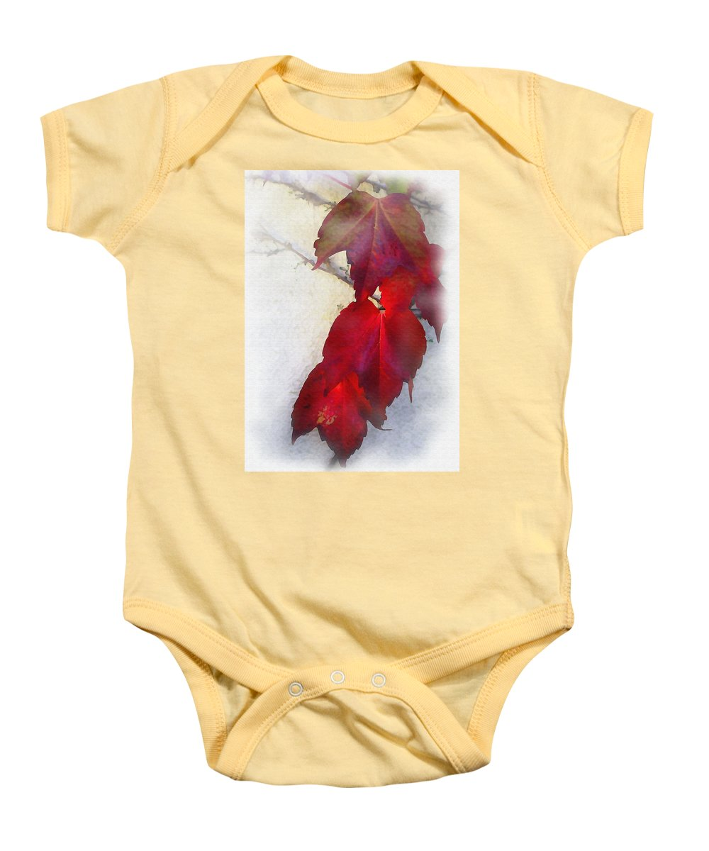 Nature Baby Onesie featuring the photograph Red Leaves by Sharon Foster