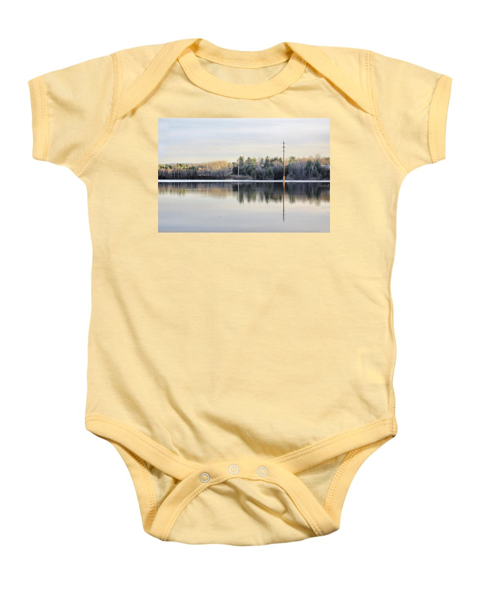 Water Baby Onesie featuring the photograph Reflections Across The Water by Deborah Benoit