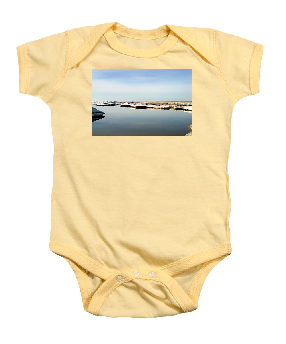 Ocean Baby Onesie featuring the photograph River To The Arctic Ocean by Anthony Jones