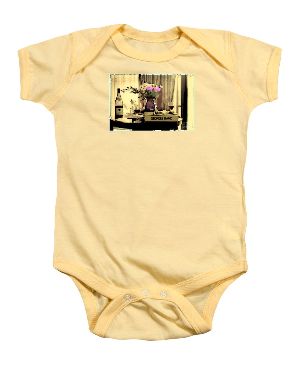 Still Life Baby Onesie featuring the photograph Romance In The Afternoon 2 by Madeline Ellis