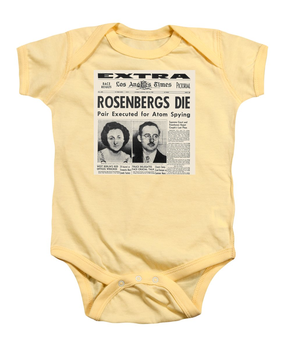 1953 Baby Onesie featuring the photograph Rosenberg Execution, 1953 by Granger
