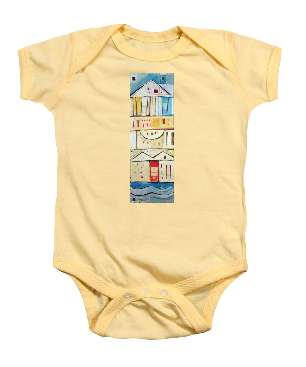 House Baby Onesie featuring the painting Rowhouse No. 1 by Tim Nyberg