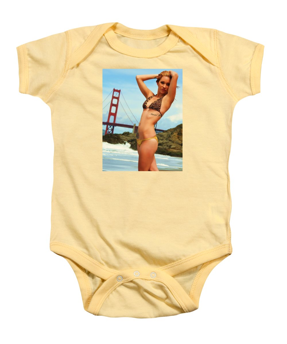 Bikini Baby Onesie featuring the photograph Sarah 064 by Remegio Dalisay