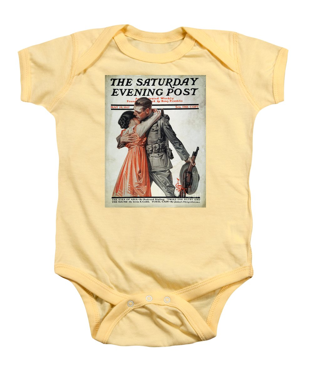 1917 Baby Onesie featuring the photograph Saturday Evening Post by Granger