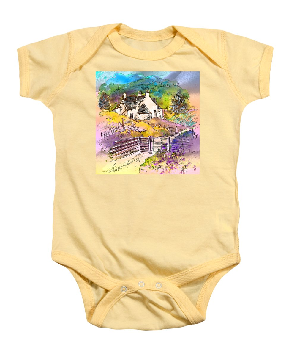 Scotland Paintings Baby Onesie featuring the painting Scotland 16 by Miki De Goodaboom
