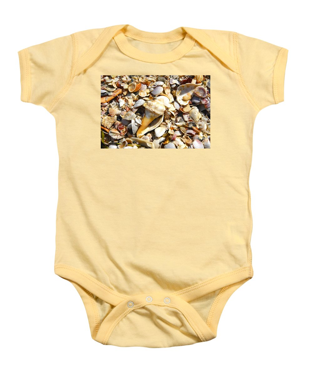 Florida Baby Onesie featuring the photograph Sea Shells by David Lee Thompson