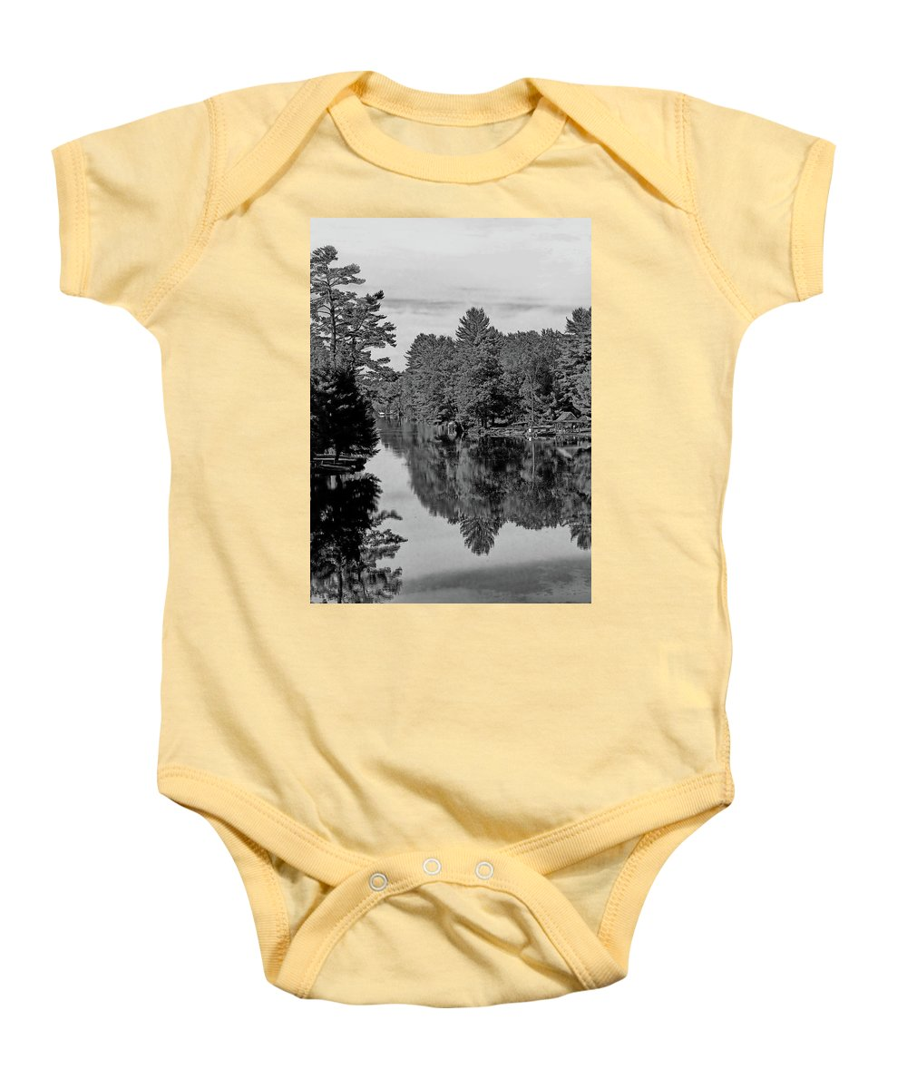 River Baby Onesie featuring the photograph Secret Hideaway by JGracey Stinson