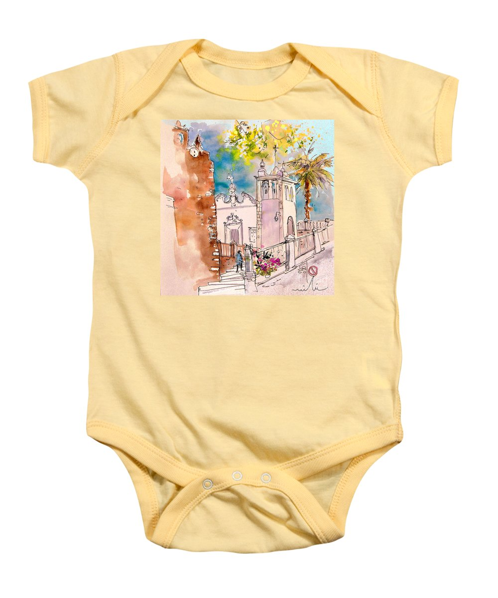 Water Colour Painting Serpa Portugal Baby Onesie featuring the painting Serpa Portugal 31 by Miki De Goodaboom