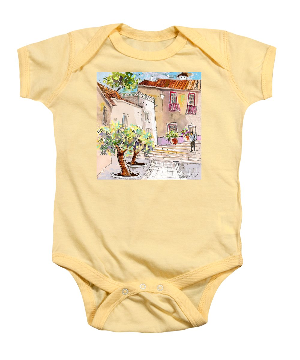 Portugal Paintings Baby Onesie featuring the painting Serpa Portugal 36 by Miki De Goodaboom