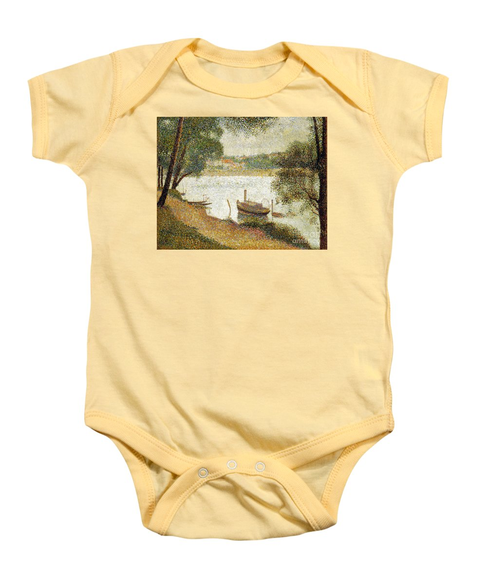 19th Century Baby Onesie featuring the photograph Seurat: Gray Weather by Granger
