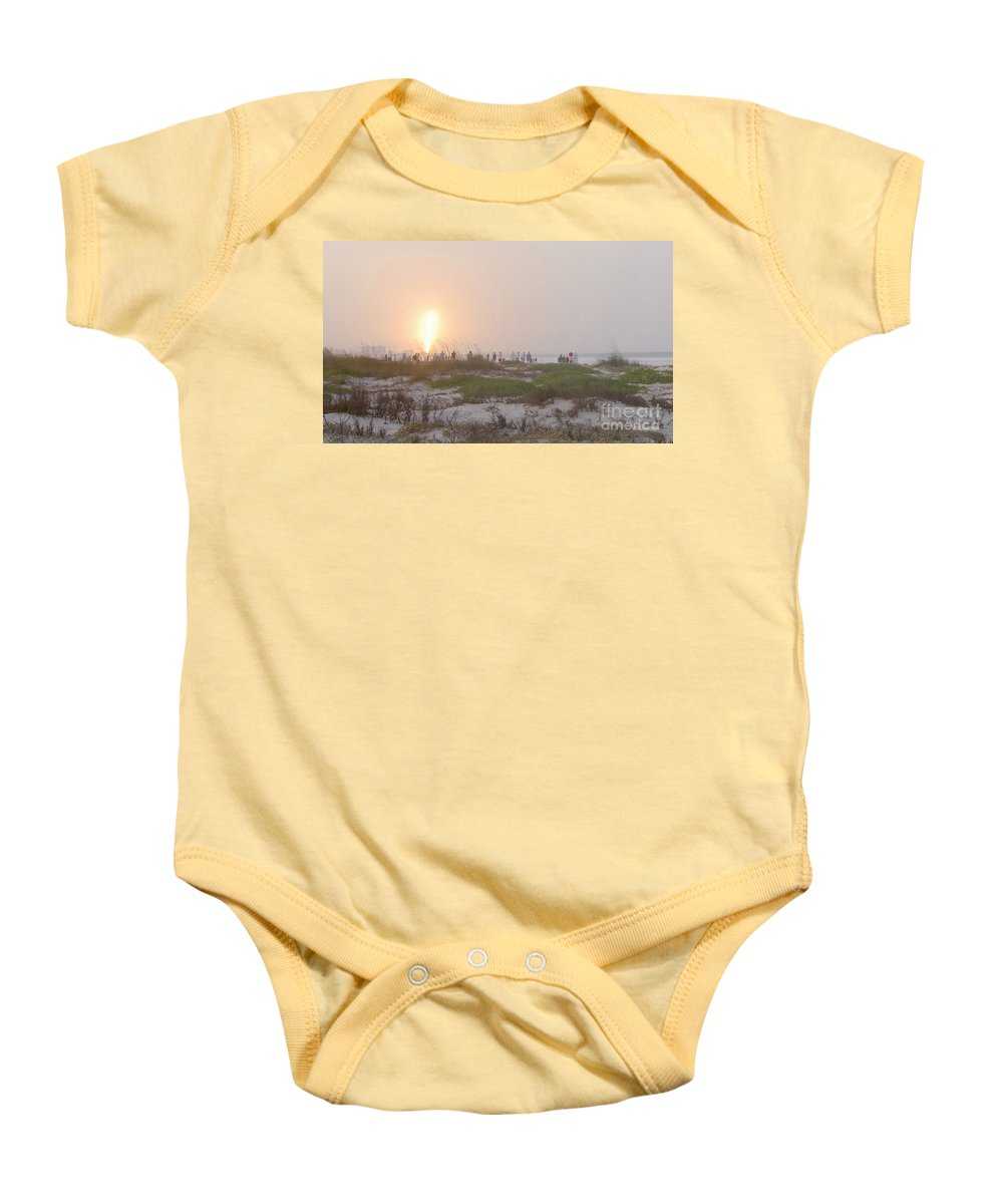 Shuttle Launch Baby Onesie featuring the photograph Shuttle Launch by David Lee Thompson