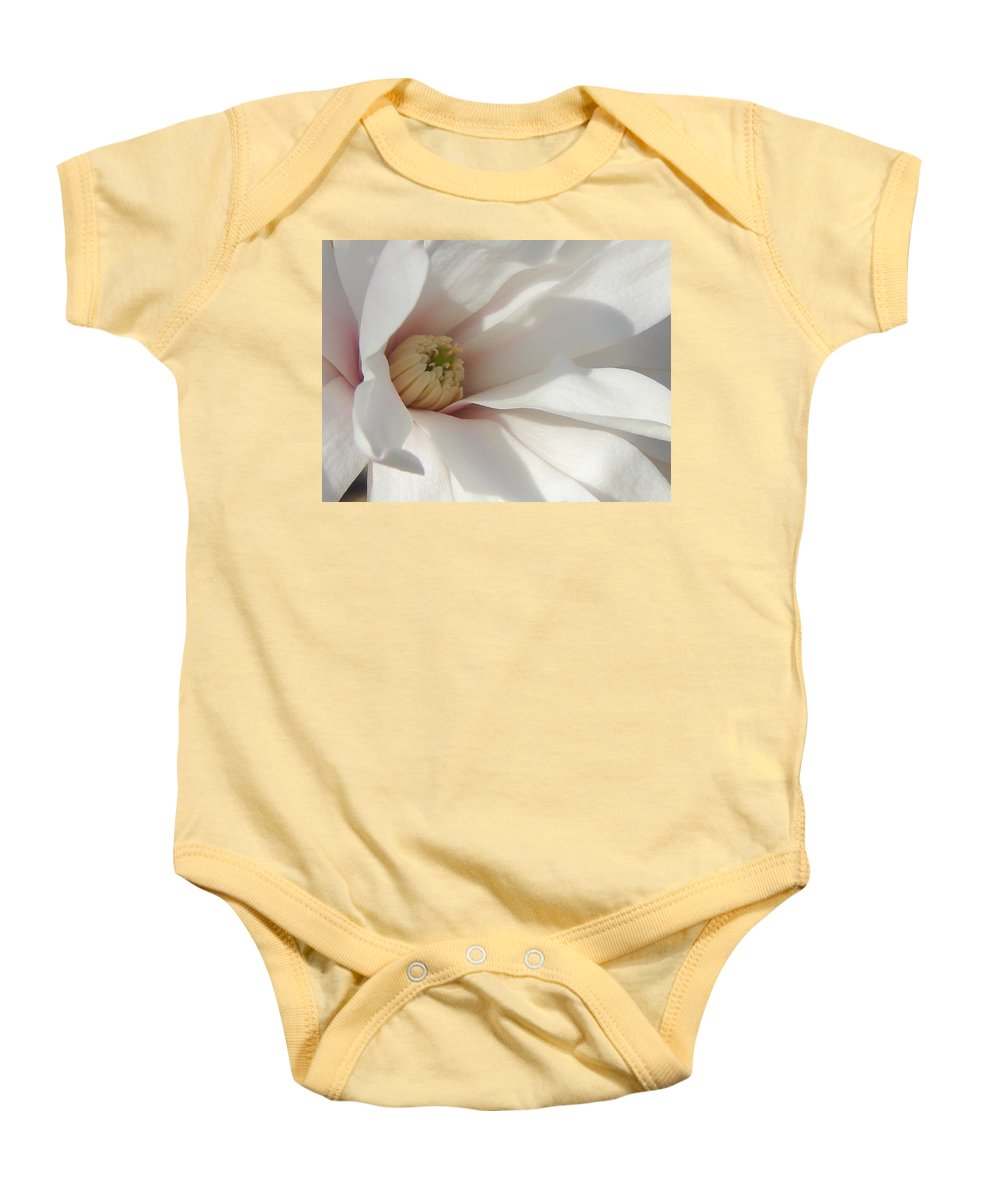 Baby Onesie featuring the photograph Simply White by Luciana Seymour
