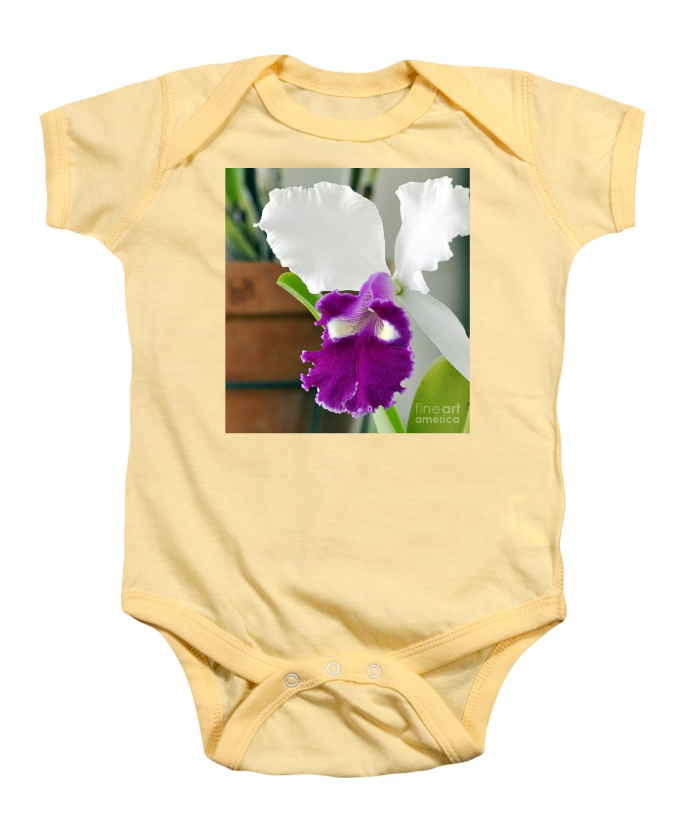 Clay Baby Onesie featuring the photograph Smile by Clayton Bruster