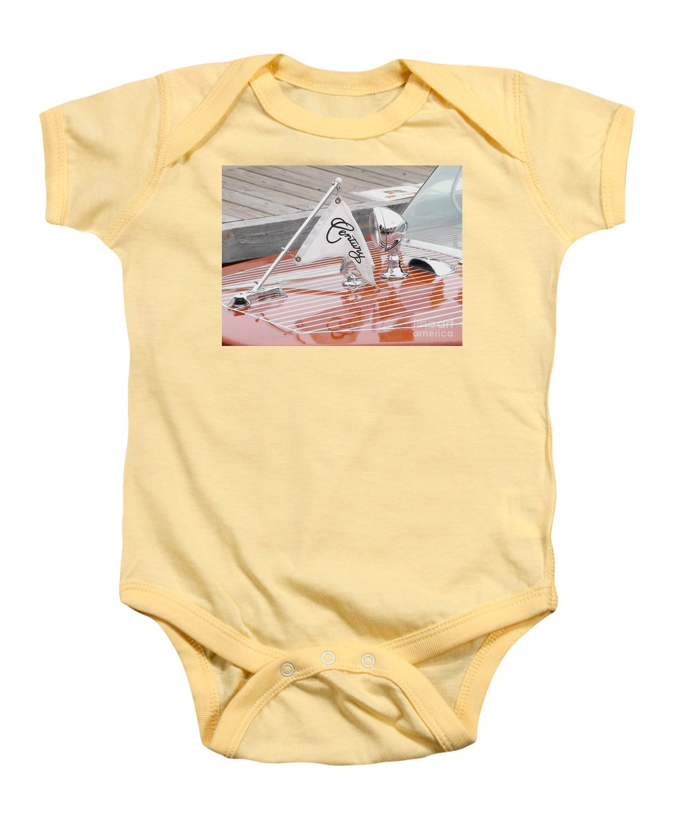 Motor Boat Baby Onesie featuring the photograph Square Bow Resorter by Neil Zimmerman