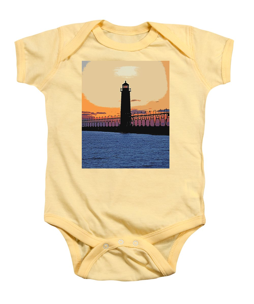 Light House Baby Onesie featuring the photograph Standing Sure by Robert Pearson