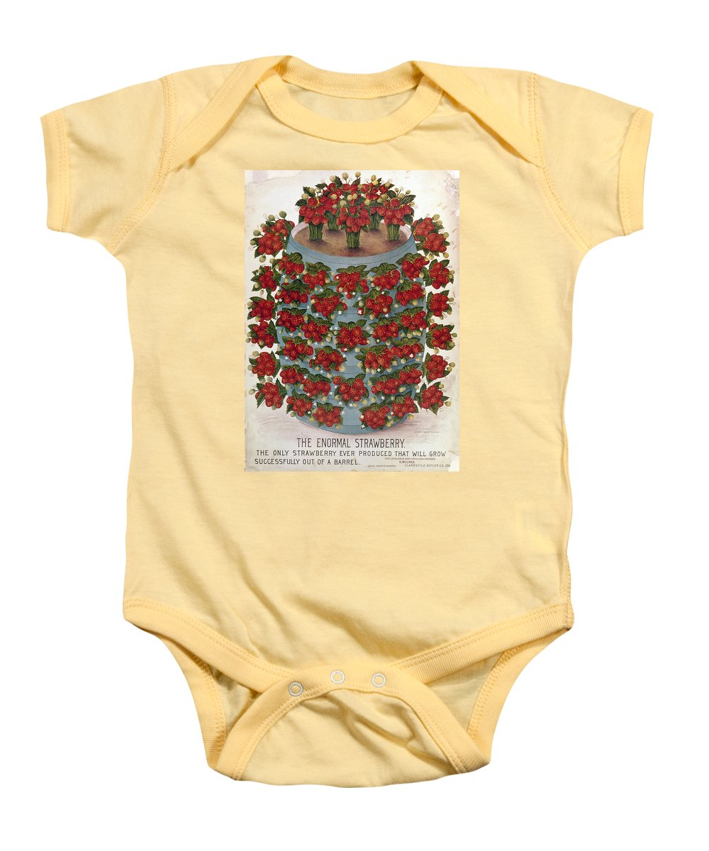 1889 Baby Onesie featuring the photograph Strawberries, 1889 by Granger