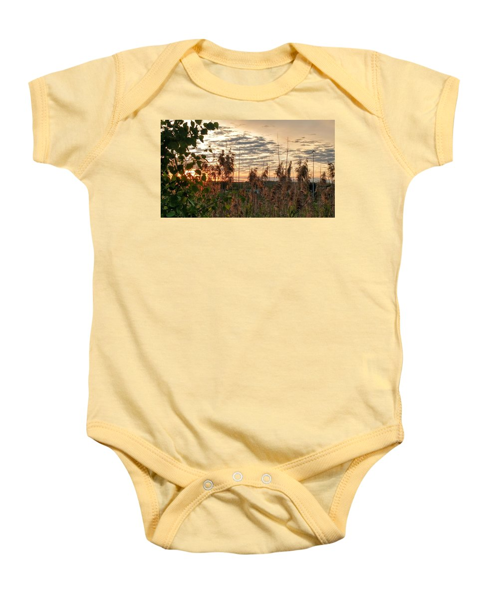 Baby Onesie featuring the photograph Suburban Sunrise by Brad Nellis
