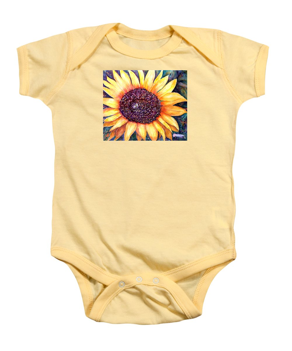 Sunflower Baby Onesie featuring the painting Sunflower Of Georgia by Norma Boeckler