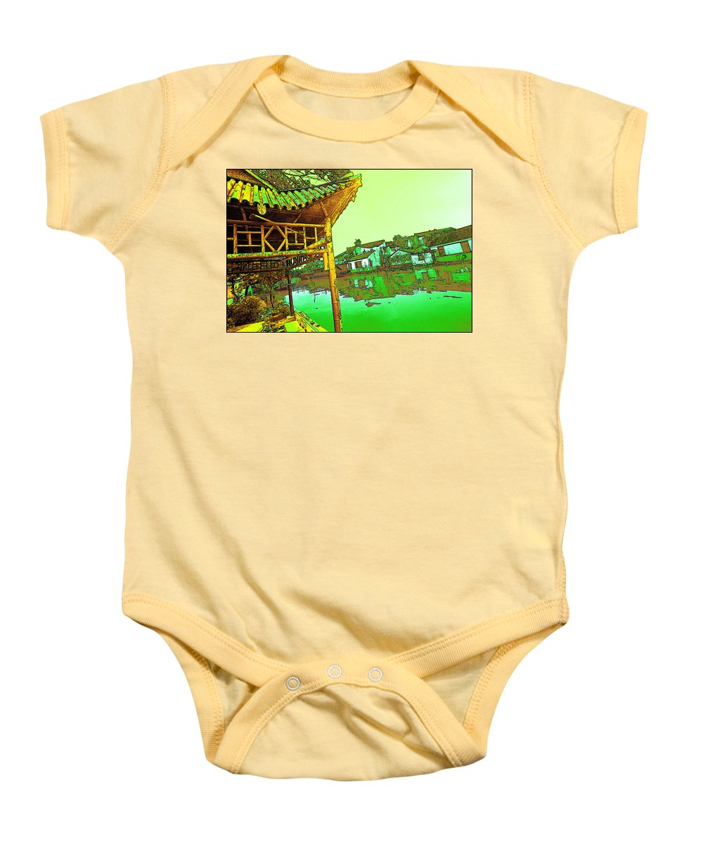 Cityscape Baby Onesie featuring the photograph Suzhou Grand Canal by Steven Hlavac