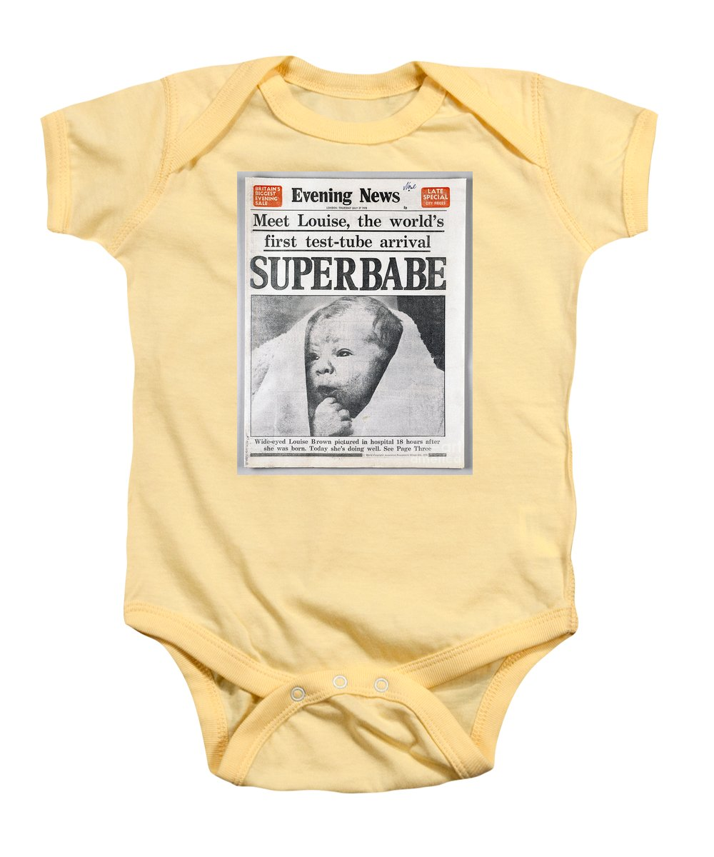 1978 Baby Onesie featuring the photograph Test-tube Baby, 1978 by Granger