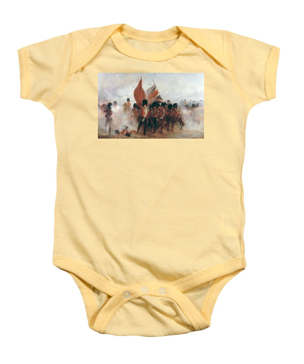 War Baby Onesie featuring the painting The Colours by Elizabeth Southerden Thompson