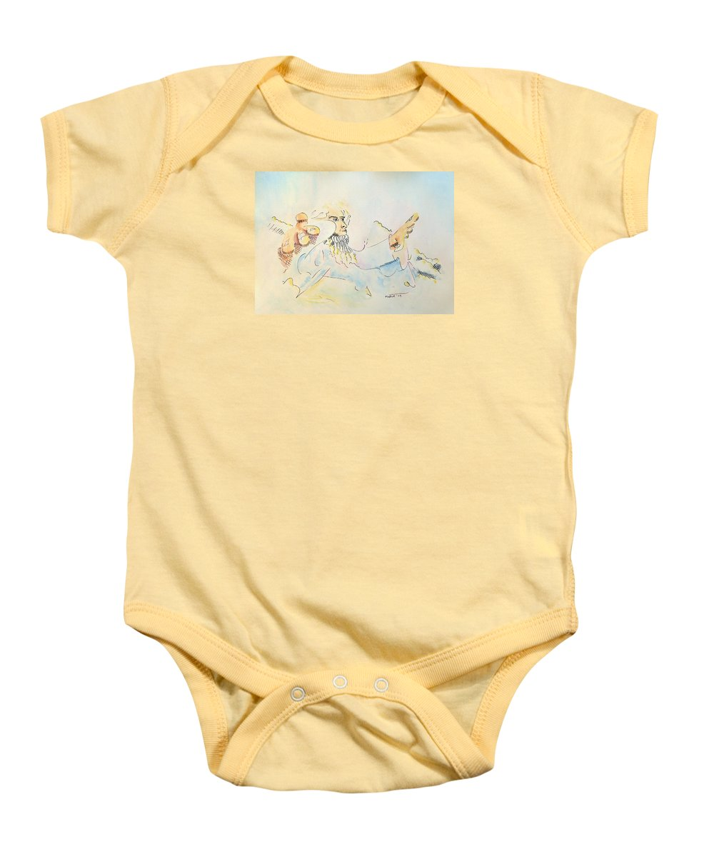 Music Baby Onesie featuring the painting The Conductor by Dave Martsolf