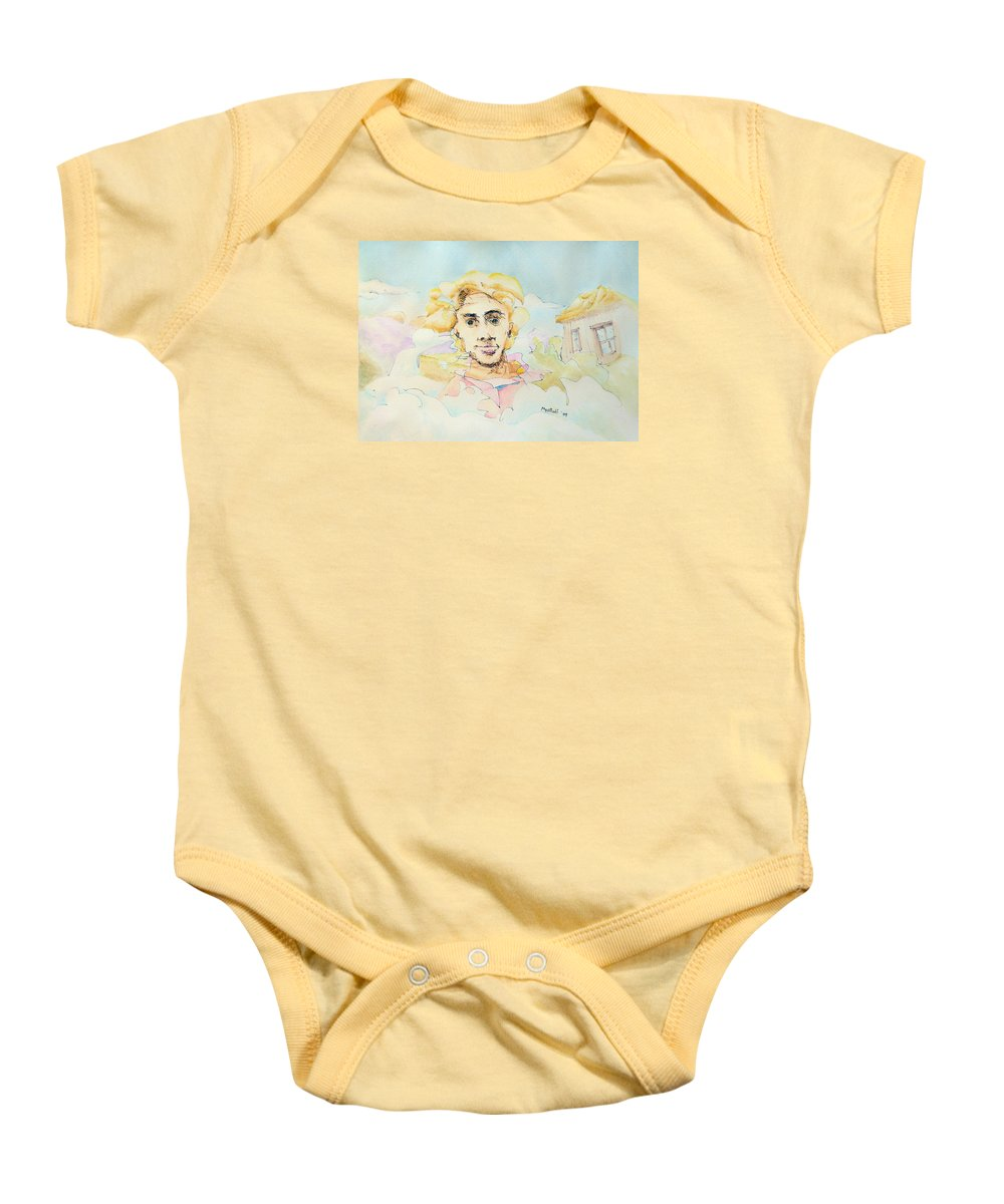 Air Baby Onesie featuring the painting The Good Man by Dave Martsolf