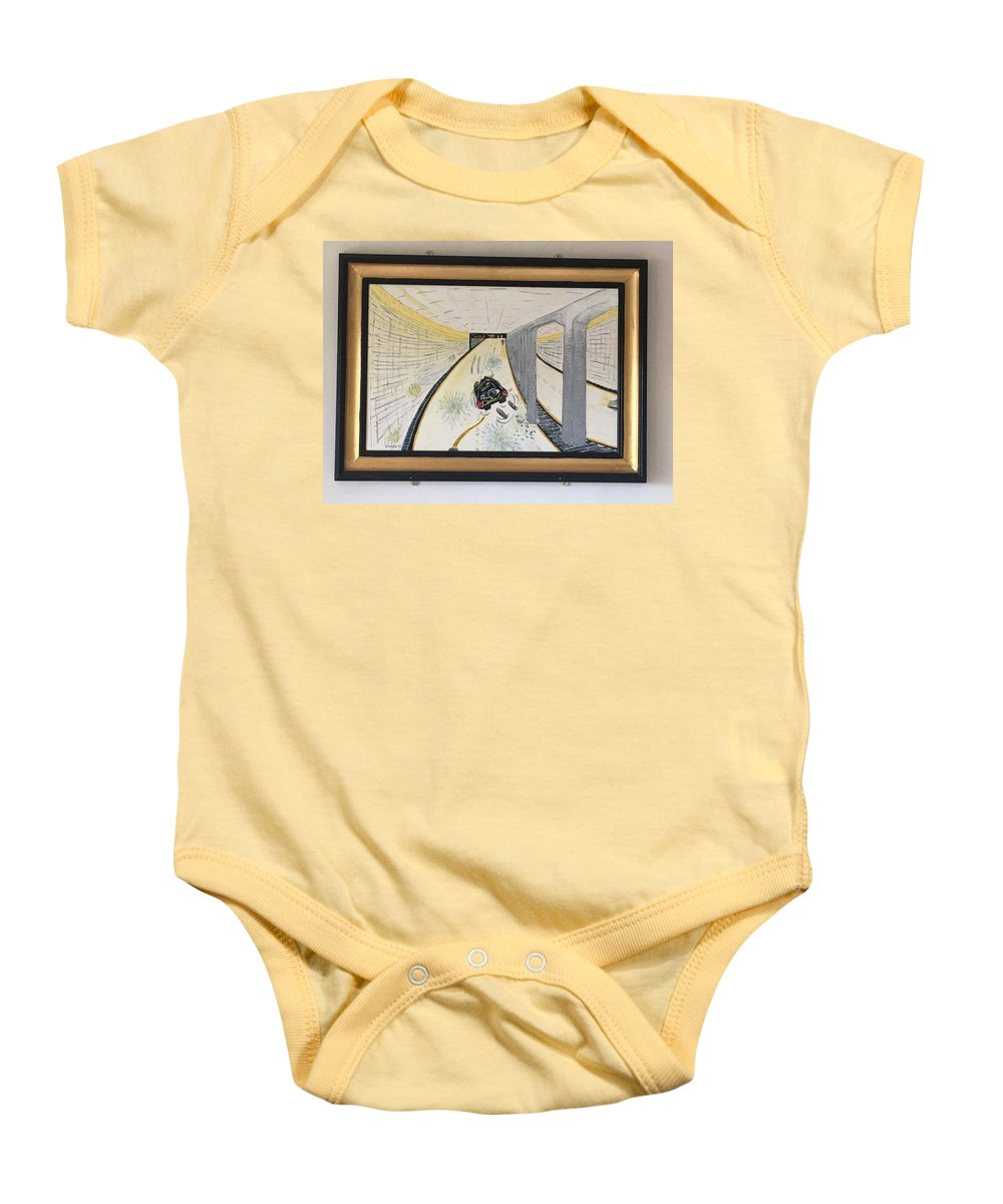 Historical Paintings Baby Onesie featuring the painting The Last Night 0f Princess Diana by MERLIN Vernon