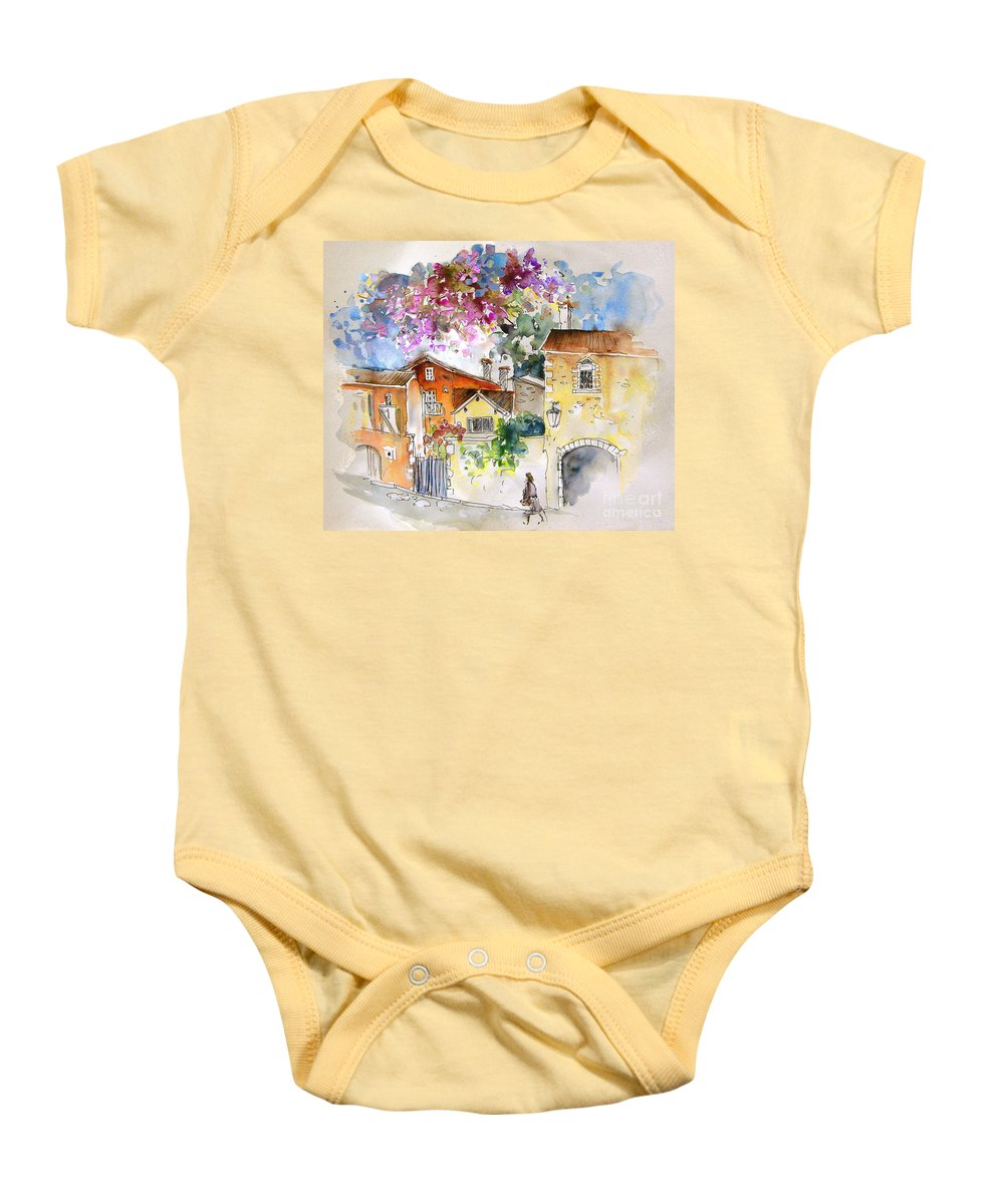 France Paintings Baby Onesie featuring the painting The Perigord In France by Miki De Goodaboom