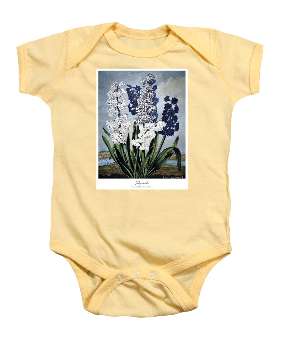 1801 Baby Onesie featuring the photograph Thornton: Hyacinths by Granger