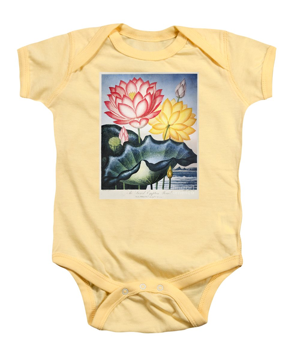 1804 Baby Onesie featuring the photograph Thornton: Lotus Flower by Granger