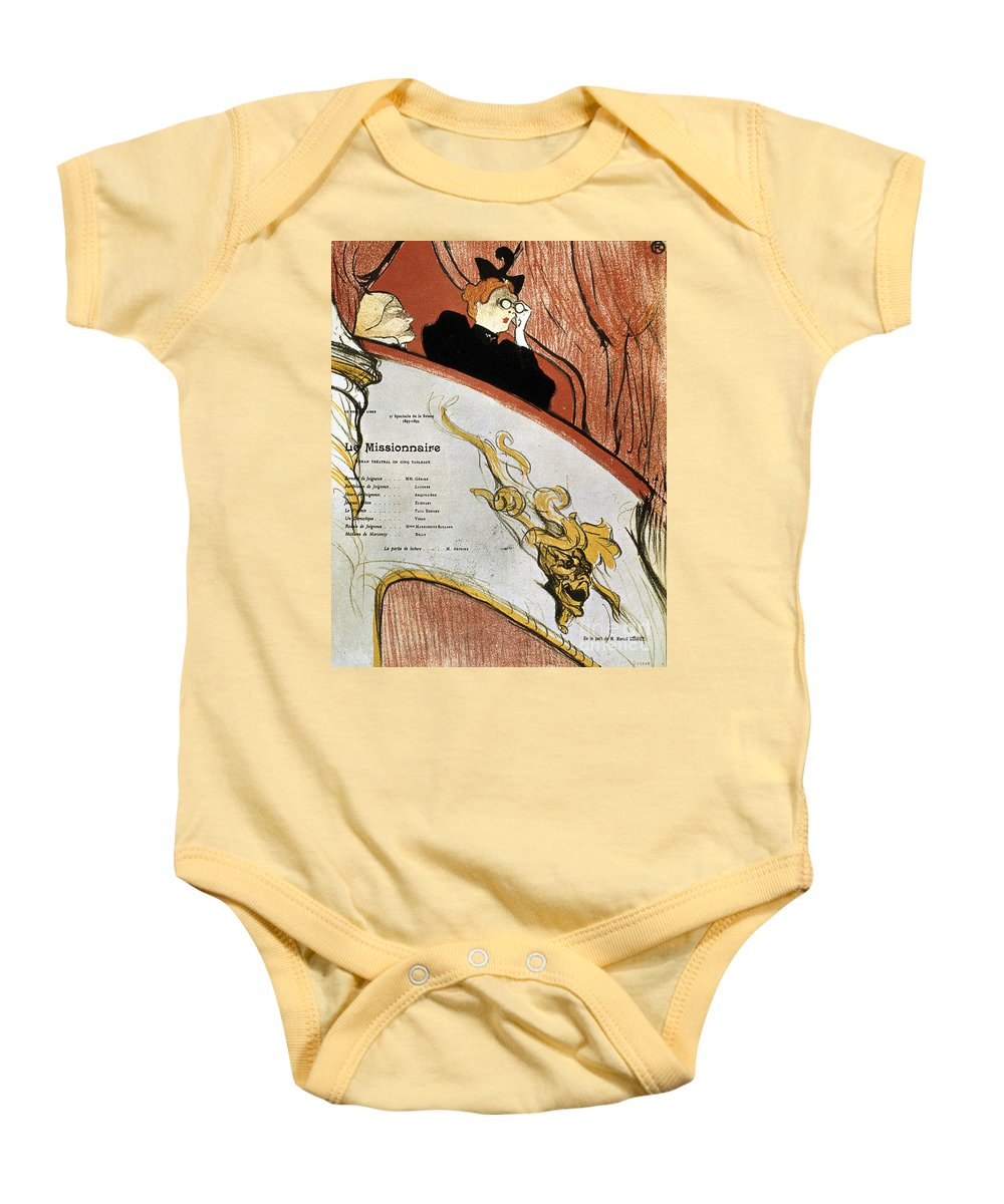 1893 Baby Onesie featuring the photograph Toulouse-lautrec, 1893 by Granger