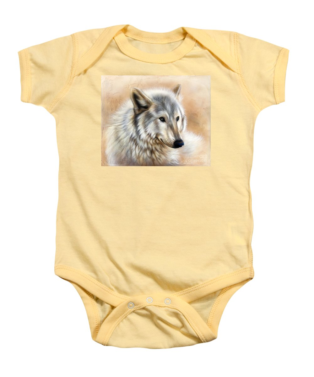 Acrylic Baby Onesie featuring the painting Trace by Sandi Baker