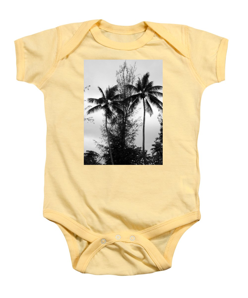 Palms Baby Onesie featuring the photograph Tree Between The Trees by Deborah Crew-Johnson