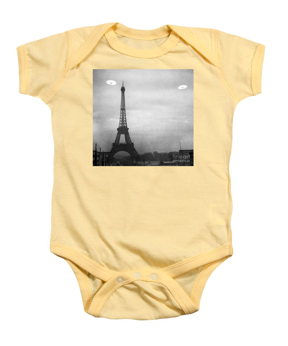 1950s Baby Onesie featuring the photograph Ufo: Paris by Granger