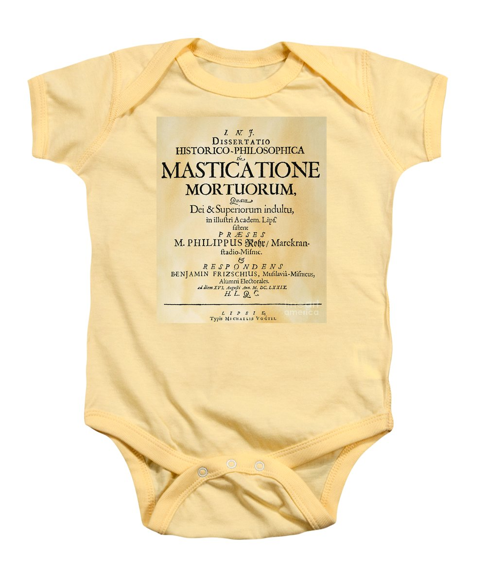1679 Baby Onesie featuring the photograph Vampire Book, 1679 by Granger