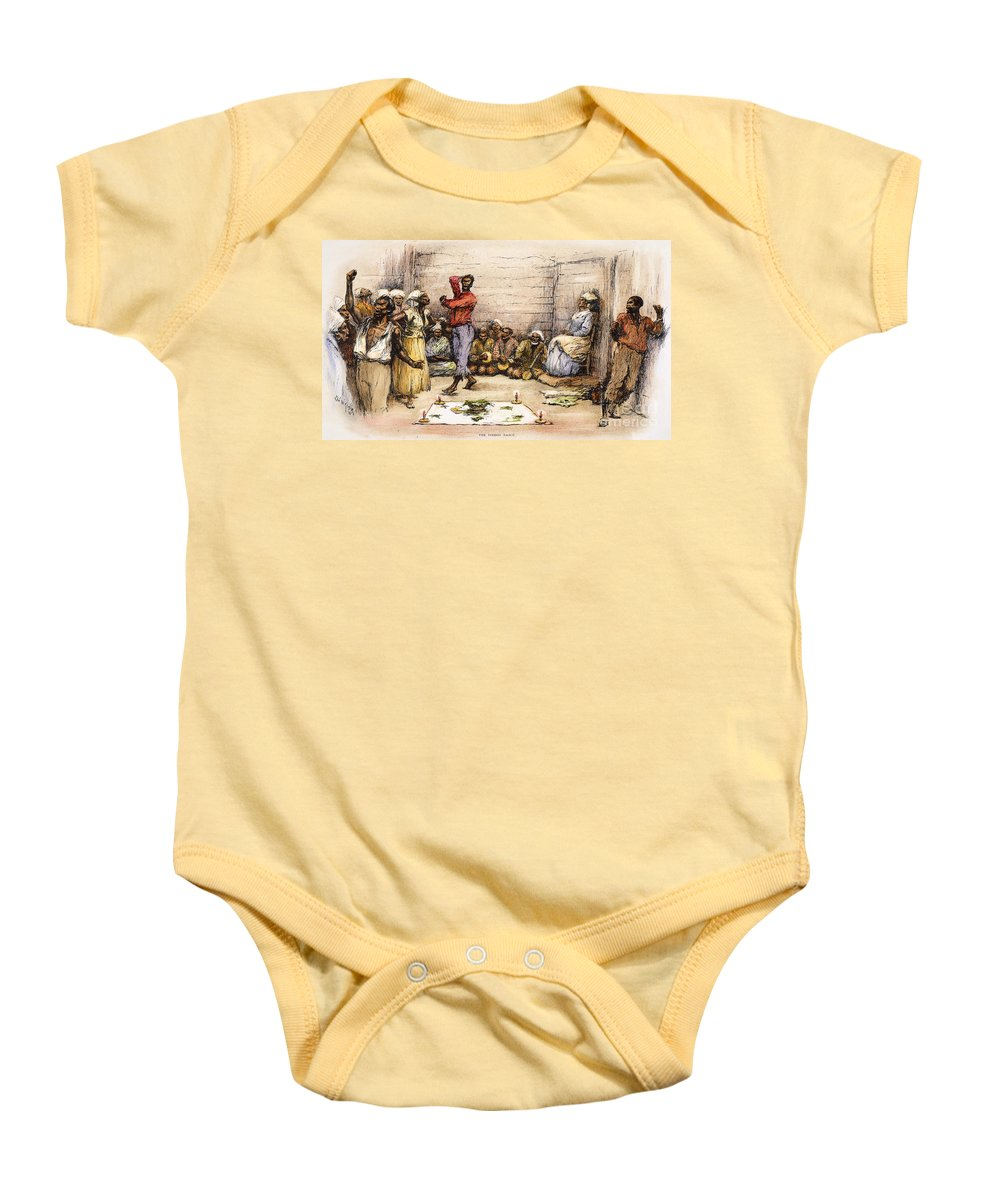 1885 Baby Onesie featuring the photograph Voodoo Dance, 1885 by Granger
