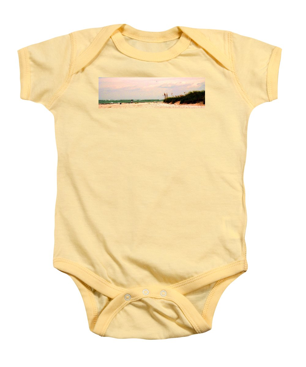 Florida Baby Onesie featuring the photograph Walk The Beach by Ian MacDonald